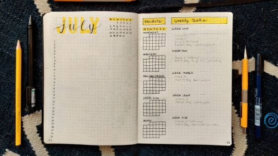 All about monthly spreads for bullet journaling